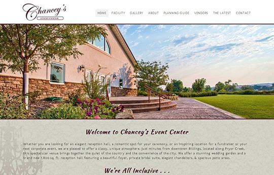 Chancey's Event Center Website