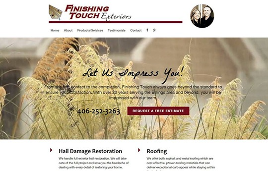 Finishing Touch Website
