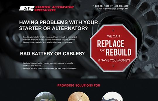 Starter Alternator Specialists Website