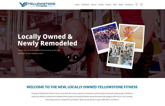 Yellowstone Fitness Website